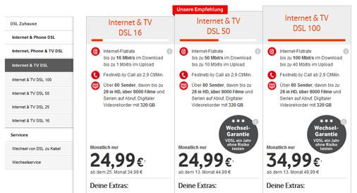 Vodafone tv tarife nun auch ohne telefon flat erh ltlich - Internet en casa de vodafone ...