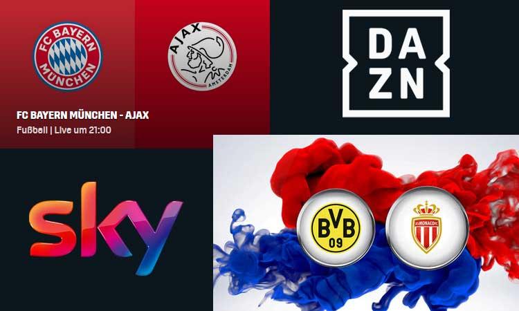 Fc Bayern Vs Ajax Amsterdam Heute Live Bei Dazn Bvb Bei Sky