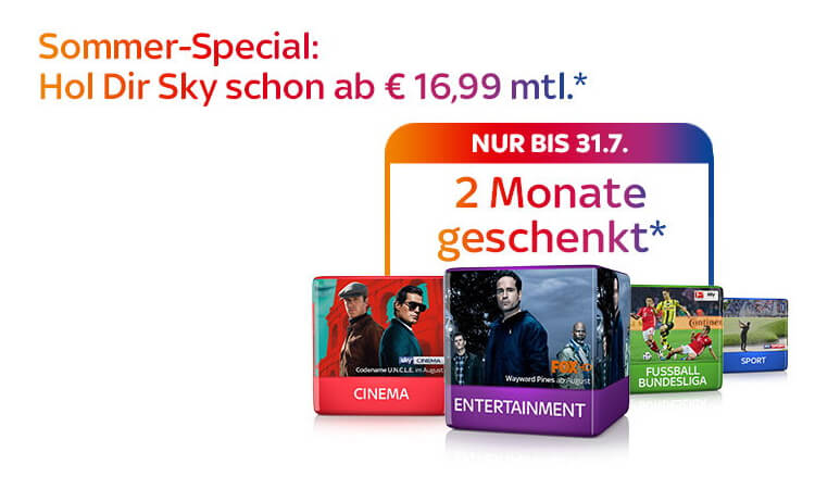 Aktuelle Kampagne von Sky: Sky Sommerspecial