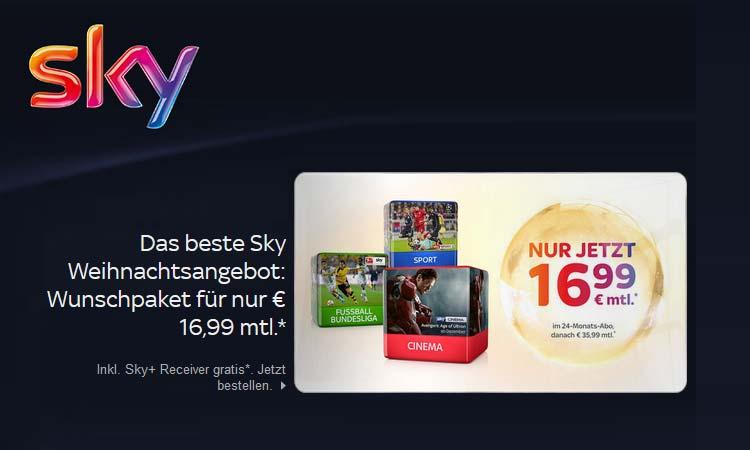 Sky Für 16 99