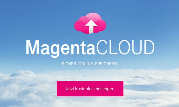 Magenta Cloud Ordner Hochladen