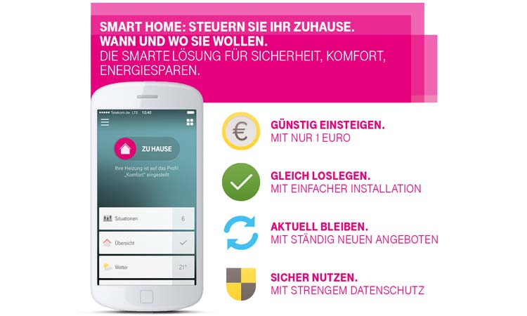 deutsche telekom smart home base jetzt zum monatlichen. Black Bedroom Furniture Sets. Home Design Ideas