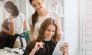 Internetanschluss für den Friseursalon