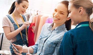 Internetanschluss für die Mode-Boutique