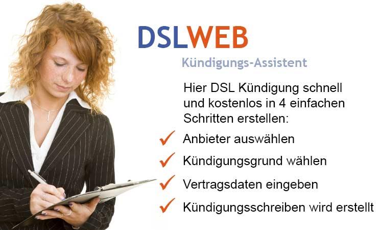 DSLWEB Kündigungs-Assistent