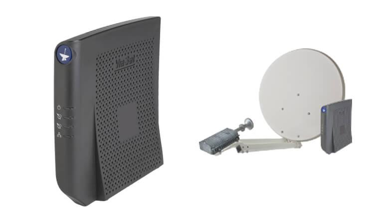 Satelliten-Modem Beispiel SkyDSL