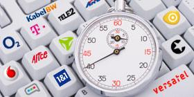 DSL Anbieter im Speedtest