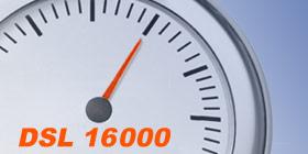 DSL 16000 Anschluss im Speedtest