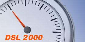 DSL 2000 Anschluss im Speedtest