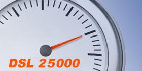 VDSL 25 Anschluss im Speedtest