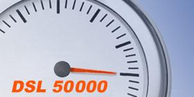 VDSL 50 Anschluss im Speedtest