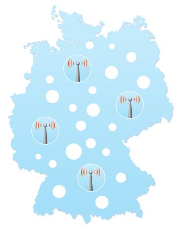 """Mit LTE sollen die """"weißen Flecken"""" in Deutschland verschwinden"""