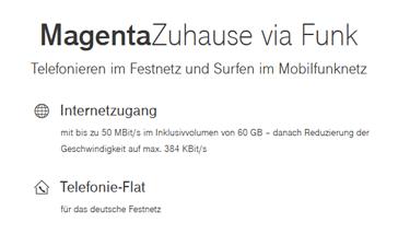 Screenshot Telekom Shop mit LTE Zuhause Tarifen