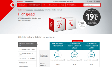 vodafone lte f r zuhause mit bis zu 50 mbit s im internet surfen. Black Bedroom Furniture Sets. Home Design Ideas
