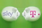 Sky Telekom Sparschwein Grün