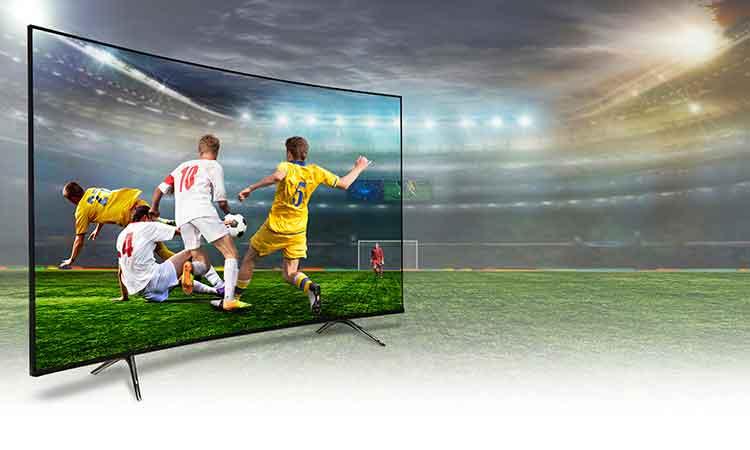 Smart Fernseher in Stadion