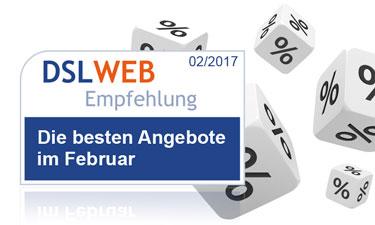 Die besten DSL Angebote des Monats: die DSLWEB Empfehöungen im Überblick