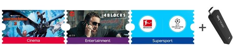 Sky Ticket Aktion mit kostenlosem Sky TV Stick