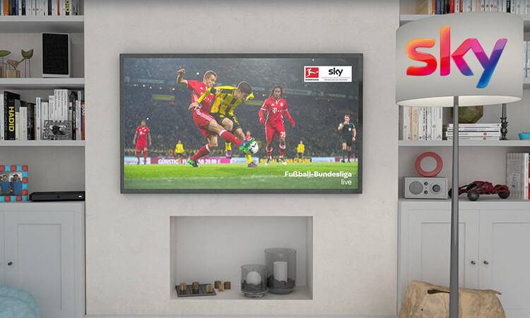 Wohnzimmerfernseher mit Sky Bundesliga