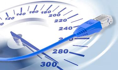 Teaserbild DSL Speedtest mit Tachometer