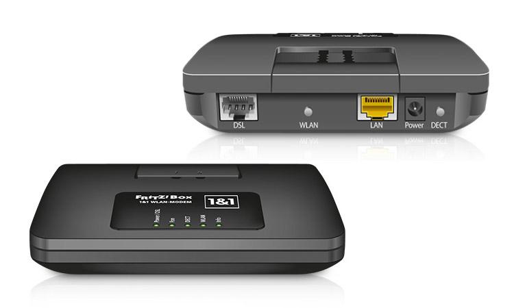 1&1 HomeServer für analoge, ISDN- und DECT-Telefone