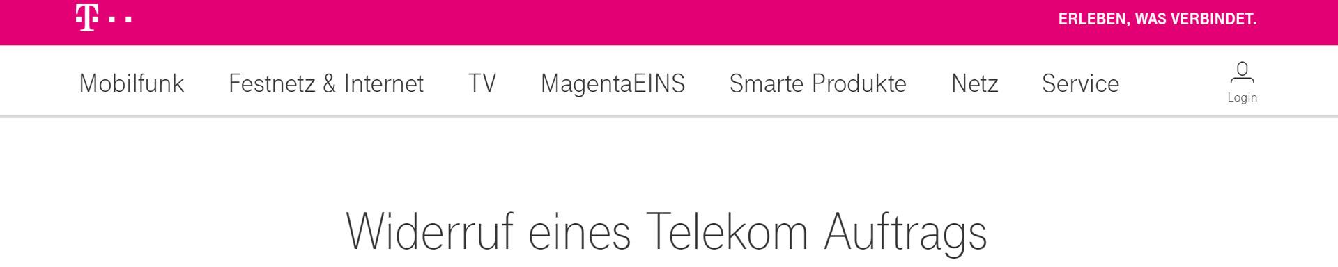 Telekom Auftrag Widerrufen