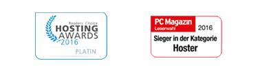 Auszeichnungen für 1&1 Webhosting