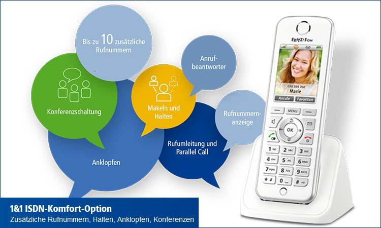 1&1 ISDN-Komfort-Option