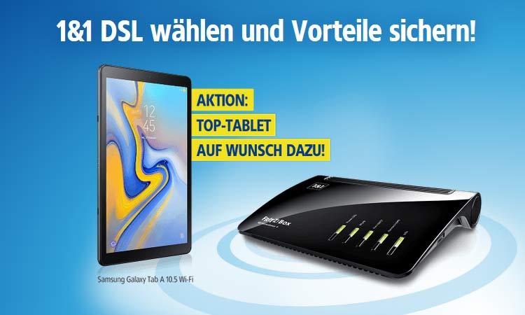 1&1 DSL: Samsung Galaxy Tab A 10.5 für 0,- € inklusive