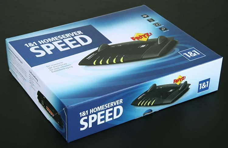 1&1 HomeServer Speed Verpackung