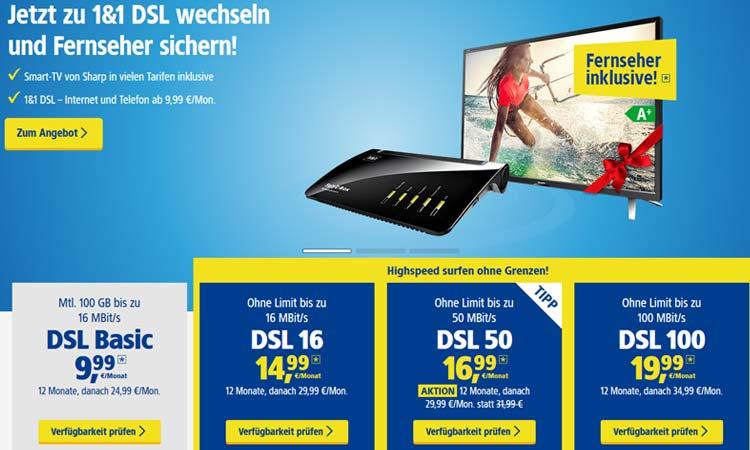 11 Dsl Angebot Bestellen Und Gratis Fernseher Sichern