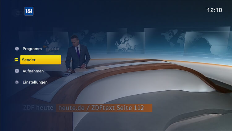1&1 TV-App auf Amazon Fire TV