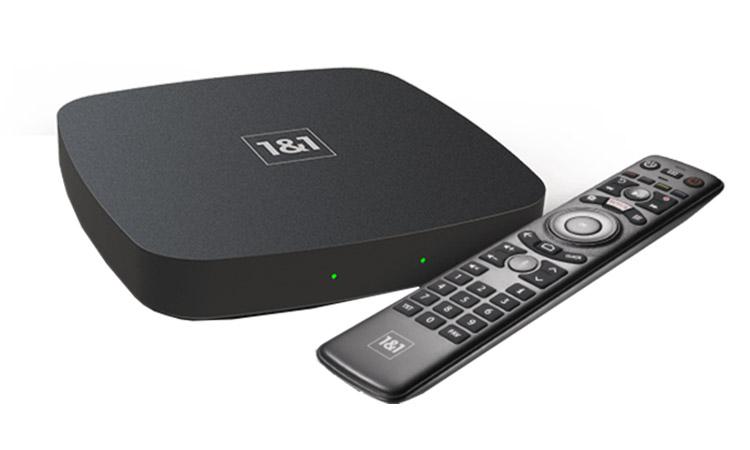 1&1 TV-Box mit Fernbedienung