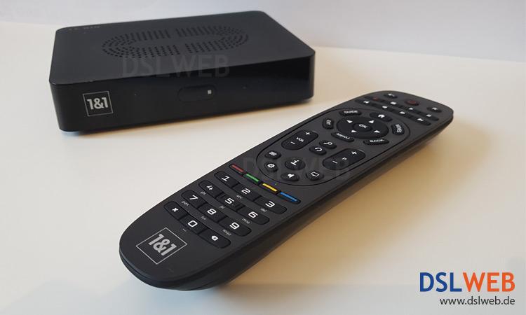 1&1 TV Box mit Fernbedienung
