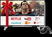 1&1 TV-Paket - JVC Fernseher und Chromecast inklusive