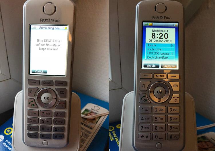 DECT-Telefon einrichten (Beispiel Fritz!Fon C4)