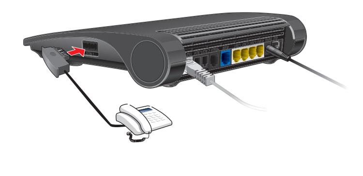 1&1 HomeServer Speed+ Telefone anschließen