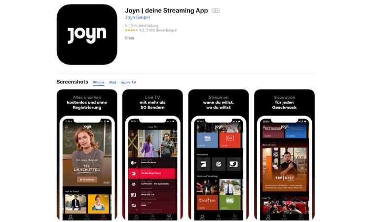Joyn Apple App Store