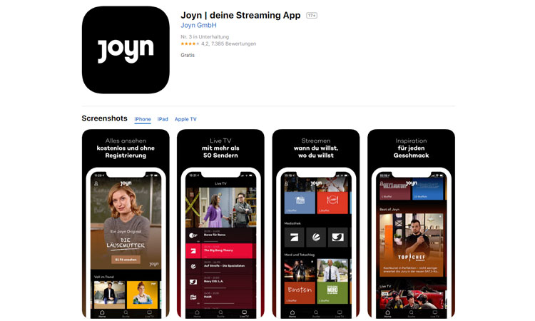 Joyn Streaming App