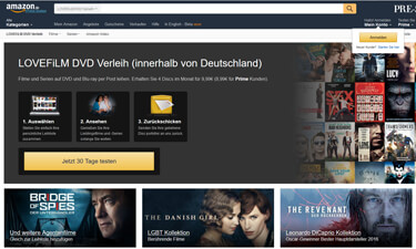 Screenshot: Lovefilm im Amazon Shop