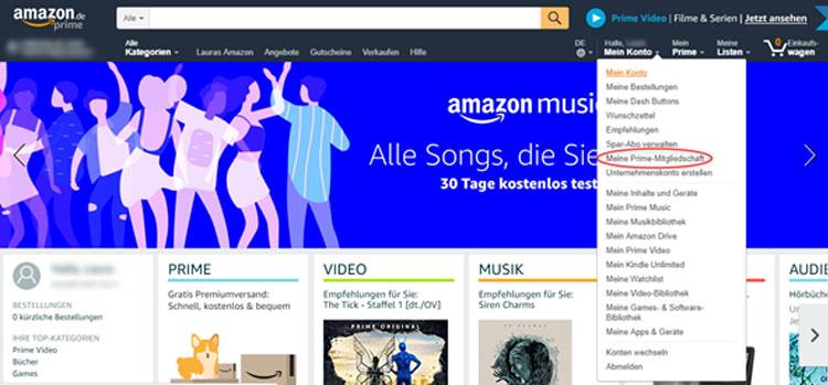 Amazon Prime Beenden