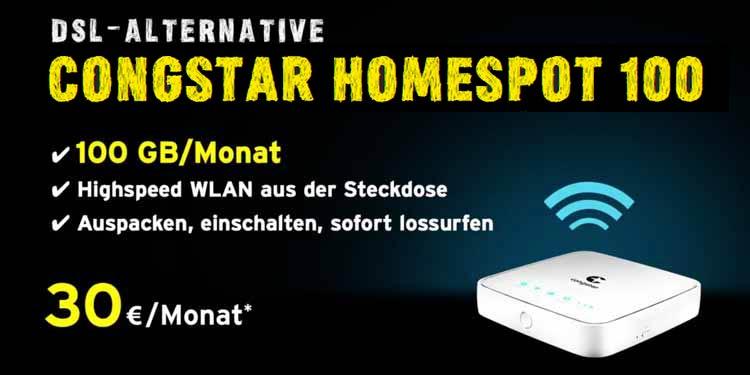 DSL-Alternative Congstar Homespot