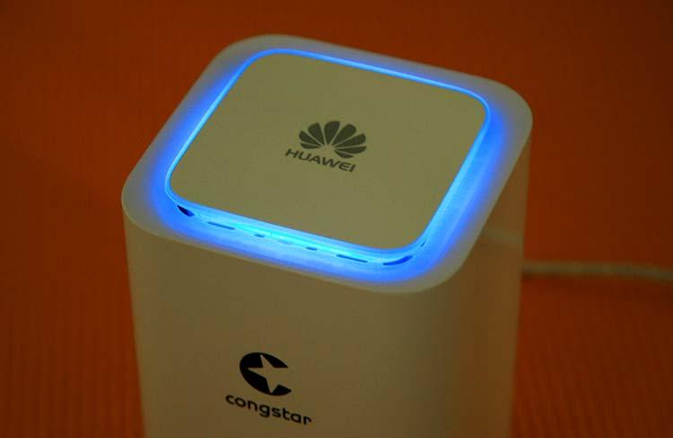 congstar WLAN Cube: Draufsicht mit Beleuchtung