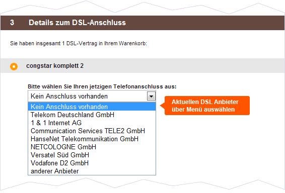 Congstar DSL Anschluss Details