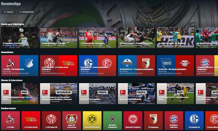DAZN Bundesliga Programm-Übersicht
