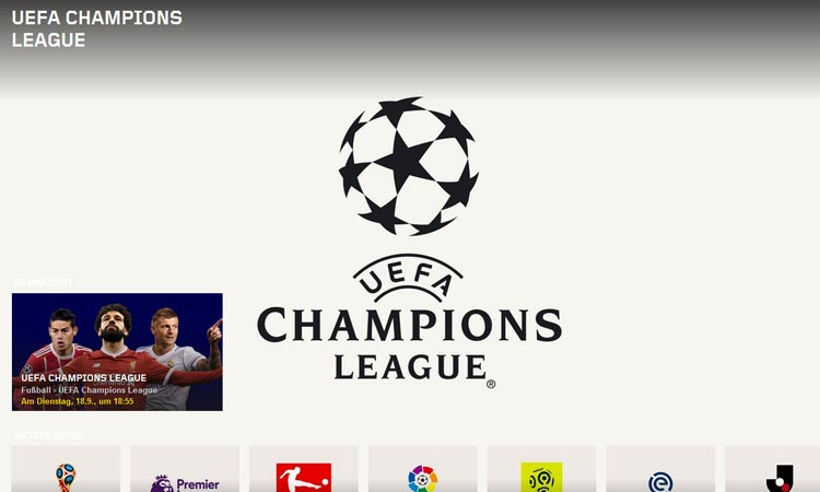 Champions League bei DAZN