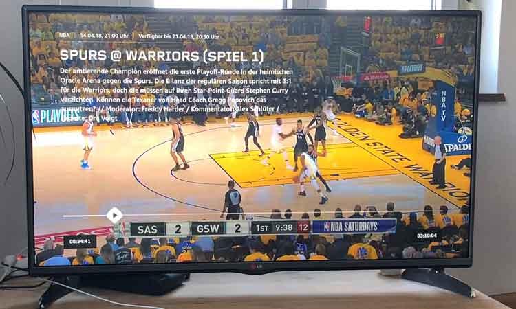 DAZN NBA auf dem Fernseher
