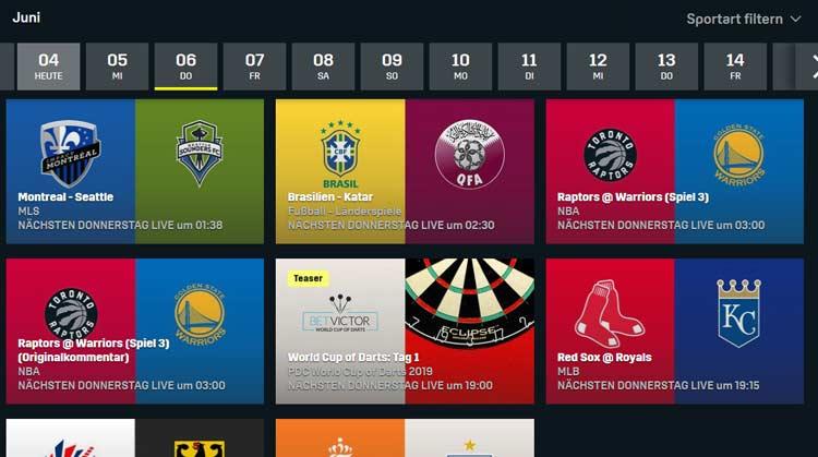 NBA Finals bei DAZN Terminplan