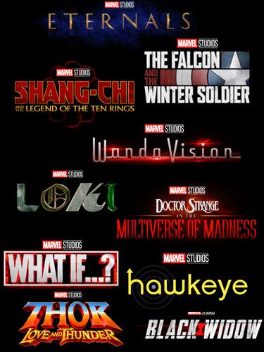 Disney+ Marvel Logos neue Projekte