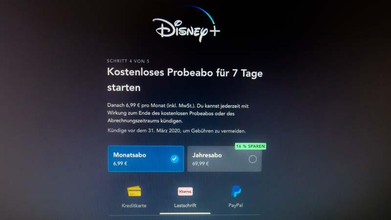 Disney+ Probeabo